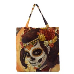 Fantasy Girl Art Grocery Tote Bag
