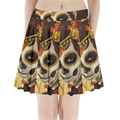 Fantasy Girl Art Pleated Mini Skirt