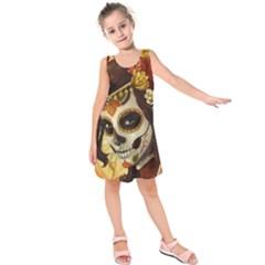 Fantasy Girl Art Kids  Sleeveless Dress