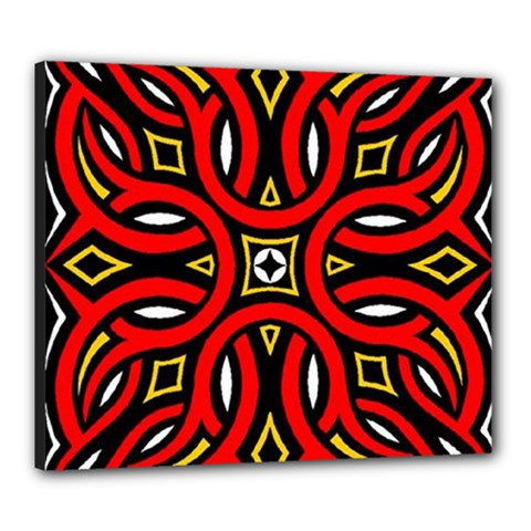 Traditional Art Pattern Canvas 24  X 20