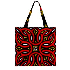 Traditional Art Pattern Zipper Grocery Tote Bag