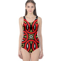 Traditional Art Pattern One Piece Swimsuit