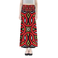 Traditional Art Pattern Full Length Maxi Skirt