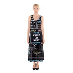 Book Quote Collage Sleeveless Maxi Dress