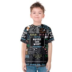 Book Quote Collage Kids  Cotton Tee