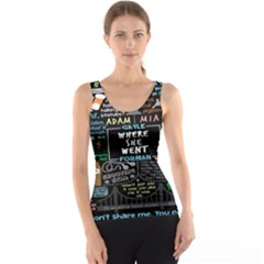 Book Quote Collage Tank Top