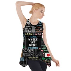Book Quote Collage Side Drop Tank Tunic