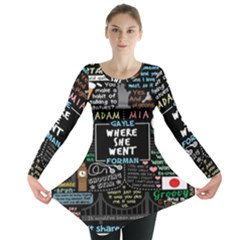 Book Quote Collage Long Sleeve Tunic