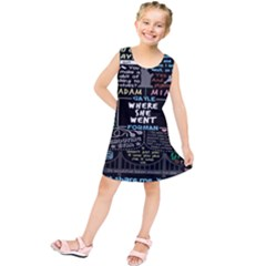 Book Quote Collage Kids  Tunic Dress