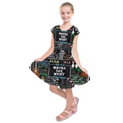 Book Quote Collage Kids  Short Sleeve Dress