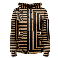Wooden Pause Play Paws Abstract Oparton Line Roulette Spin Women s Pullover Hoodie