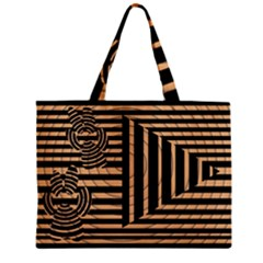 Wooden Pause Play Paws Abstract Oparton Line Roulette Spin Zipper Mini Tote Bag