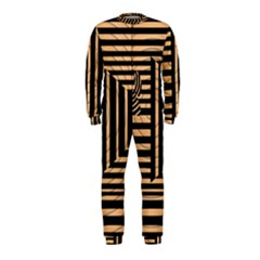 Wooden Pause Play Paws Abstract Oparton Line Roulette Spin Onepiece Jumpsuit (kids)