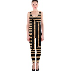 Wooden Pause Play Paws Abstract Oparton Line Roulette Spin Onepiece Catsuit
