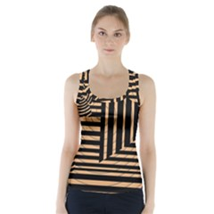 Wooden Pause Play Paws Abstract Oparton Line Roulette Spin Racer Back Sports Top
