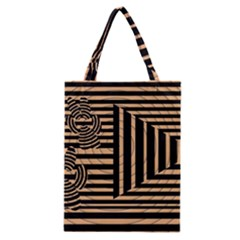 Wooden Pause Play Paws Abstract Oparton Line Roulette Spin Classic Tote Bag
