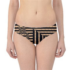 Wooden Pause Play Paws Abstract Oparton Line Roulette Spin Hipster Bikini Bottoms