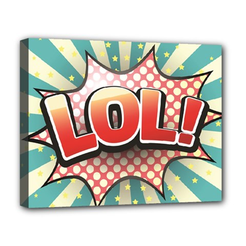 Lol Comic Speech Bubble  Vector Illustration Deluxe Canvas 20  X 16