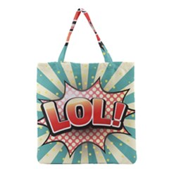 Lol Comic Speech Bubble  Vector Illustration Grocery Tote Bag
