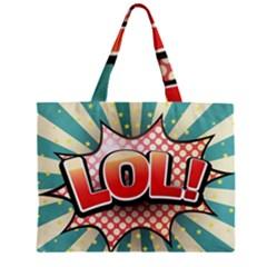 Lol Comic Speech Bubble  Vector Illustration Zipper Mini Tote Bag
