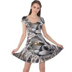 Lion Robot Cap Sleeve Dresses
