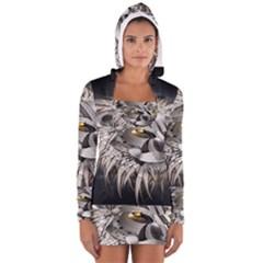 Lion Robot Long Sleeve Hooded T Shirt