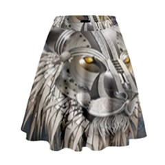 Lion Robot High Waist Skirt
