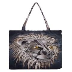 Lion Robot Medium Zipper Tote Bag