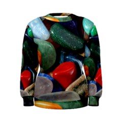 Stones Colors Pattern Pebbles Macro Rocks Women s Sweatshirt