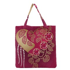 Love Heart Grocery Tote Bag