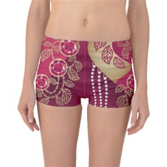 Love Heart Boyleg Bikini Bottoms