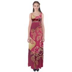 Love Heart Empire Waist Maxi Dress