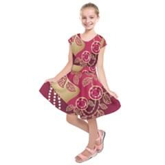 Love Heart Kids  Short Sleeve Dress