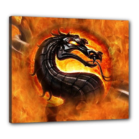 Dragon And Fire Canvas 24  X 20