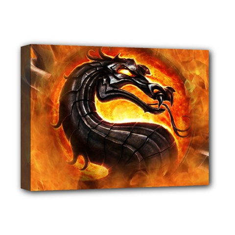 Dragon And Fire Deluxe Canvas 16  X 12