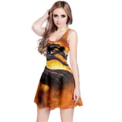 Dragon And Fire Reversible Sleeveless Dress