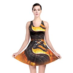 Dragon And Fire Reversible Skater Dress