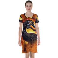 Dragon And Fire Short Sleeve Nightdress