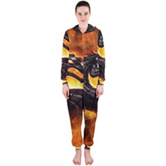 Dragon And Fire Hooded Jumpsuit (ladies)