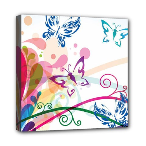 Butterfly Vector Art Mini Canvas 8  X 8