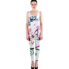 Butterfly Vector Art Onepiece Catsuit