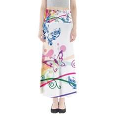 Butterfly Vector Art Full Length Maxi Skirt