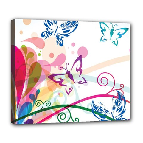 Butterfly Vector Art Deluxe Canvas 24  X 20
