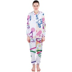 Butterfly Vector Art Hooded Jumpsuit (ladies)