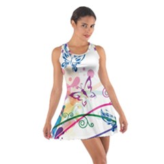 Butterfly Vector Art Cotton Racerback Dress