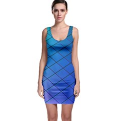 Blue Pattern Plain Cartoon Bodycon Dress