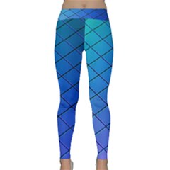 Blue Pattern Plain Cartoon Classic Yoga Leggings