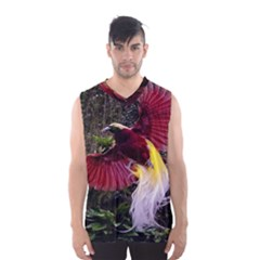 Cendrawasih Beautiful Bird Of Paradise Men s Basketball Tank Top