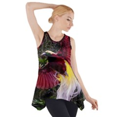 Cendrawasih Beautiful Bird Of Paradise Side Drop Tank Tunic