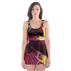 Cendrawasih Beautiful Bird Of Paradise Skater Dress Swimsuit